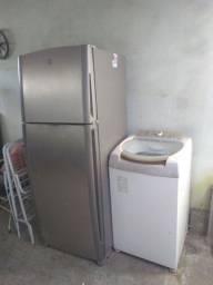 Ar condicionado, geladeira e máquina de lavar