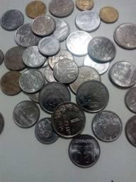 Várias moedas antigas nacionais!!!!