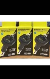 Bluetooth Handsfree Receiver For Car Wireless Transmitter Fm Mp3