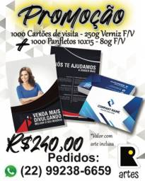 Promoção Cartao de Visita + Panfleto