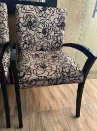 Cadeira de madeira luxo de veludo