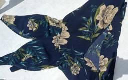 vestido florido pouco usado