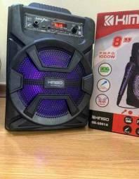 Caixa de Som Kimiso 5801B com 1000 W de potência! Bluetooth, Microfone e Controle Remoto !