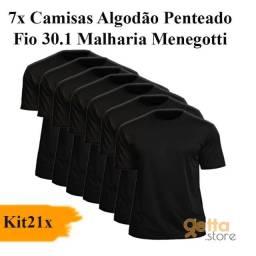 KIT 21 Peças ? 7 Camisas Masculina + 7 Cuecas + 7 Meias