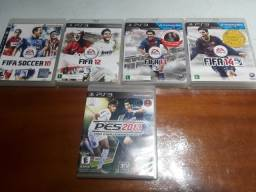 Jogos Originais de Futebol para Playstation 3 (FIFA e PES)