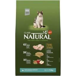 Ração  Guabi Natural Frango e Arroz Integral para Gatos Adultos Castrados 7,5kg