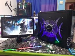 Computador Gamer para Free Fire, Completo monitor mouse e teclado, SSD