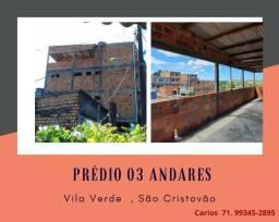 Imperdível:   Prédio 3 andares ,  Jardim Vila Verde, laje  coberta, São Cristovão