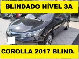 Oportunidade! Corolla 2.0 Xei 2017 *Blindado 3A*. Ligue agora!