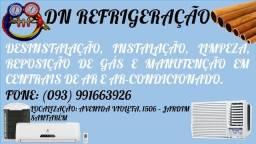 Lavagem e instalação de central de ar e ar condicionado