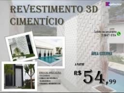 Revestimento 3d cimenticio RJ R$54,99m2