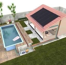 Título do anúncio: Kit Aquecedor Solar Piscina 15,75 m2 (05 Placas 3m) Pratic