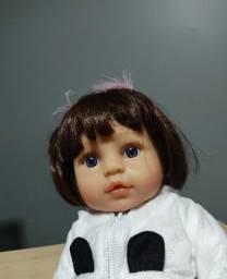 Boneca Bebê Reborn 100% Silicone Sophia Menina 47 Cm Realista
