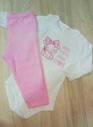 Conjunto body+ calça bebê - Tam. M