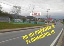 Título do anúncio: Aluga-se galpão entrada de Florianópolis, BR101, frente para rodovia