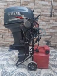 Motor de Popa Yamaha 40 HP partida elétrica.