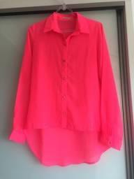 Camisa rosa neon P