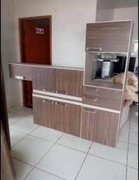 Armário de Cozinha Completo MDF Semi Novo - Entrega Grátis