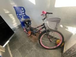 Bicicleta poti com cadeirinha