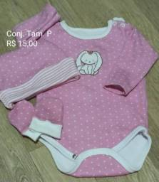 Conjunto body+ touca + luva
