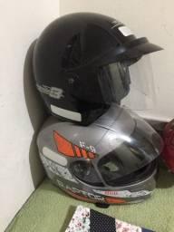 Vendo capacetes semi novos