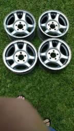 """4 rodas de liga aro 15"""" tala 7"""" furacão 5x114,3mm das Ford Ranger XLT 1998 até 2004"""