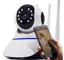 Câmera monitoramento  ip Wifi  com rotação, Visão Noturna 3 Antenas