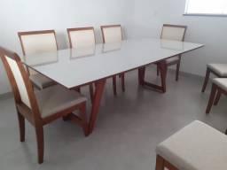 Mesa de 8 lugares nova completa