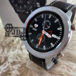 Relógio smartwatch Lemfo dt78 - monitoramento completo e notificações + pulseira brinde