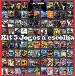 Kit 5 Jogos PlayStation 2 à escolha(5 discos)