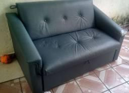 Sofá-cama Azul (Ler descrição)