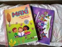 Vendo livros do sistema Maxi alfabetização do 1 ano novos ótimo preço
