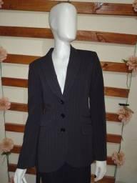blazer preto risco de giz, importado, tamanho 38