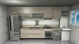 Projeto 3D para cozinhas com plano de corte