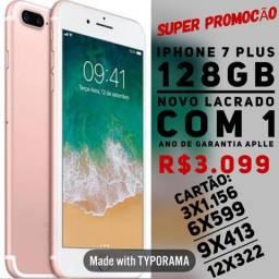 IPhone 7 Plus 128gb novo lacrado na caixa com garantia de 1 ano