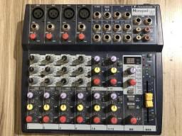 Mesa De Som Soundcraft Notepad 124fx 4 Canais + Fonte Energia