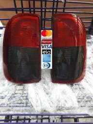 Lanterna Traseira Máscara Negra Para VW Saveiro G2 e G3