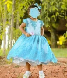 Vestido luxo Infantil azul