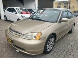 Honda Civic LX 2002 AUT financio até 48x - 2002