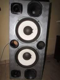 Kit de Som para Carro (Caixa de Som + Potência TS400)