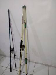 Vendo 2 varas de pesca com molinete