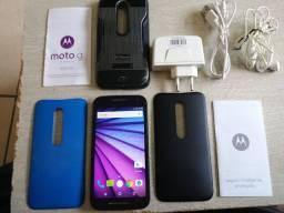 Motorola G3 100% completo + tablet e brindes, ler descrição