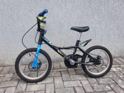 Bicicleta B-TWIN freio a disco infantil criança aro 16