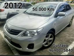 Corolla 2012 Único dono 50 mil Km Garantia de 1 ano