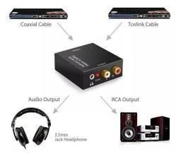 Conversou áudio digital da TV pro aparelho som