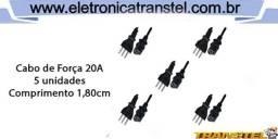 Cabo de Força 20A para Panela Elétrica com 5 Unidades