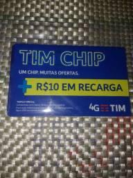 Chip Tim com R$ 10,00 de crédito