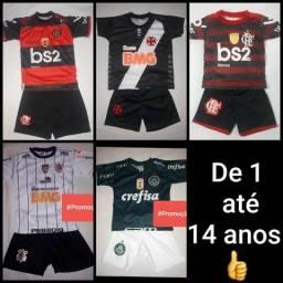 Conjuntos Infantis! Flamengo, Vasco, Palmeiras e Corinthians, Juventus, City