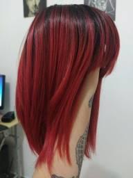 Peruca Wing Vermelha