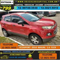 Ecosport 2014 parcelas de 799 reais ao mês 1.6 Flex manual